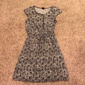 Black, White, and Gray Dress